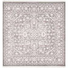 new classical light gray 8 x 8 square rug