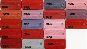 Abs Plastic Color Chart Keycap Colors