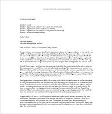 Recomendation Letters 25 Recommendation Letter Templates Free Sample Format Template