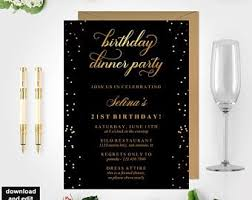 dinner party invites templates dinner party invite etsy