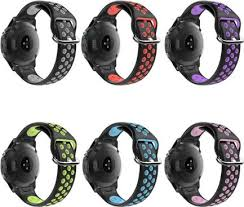 <b>Two</b>-<b>tone</b> Silicone Watchband Sport <b>Wrist</b> Strap Bracket ...