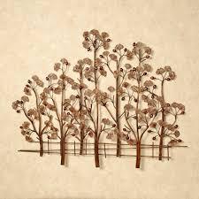 metal tree wall art elegant ginkgo tree metal wall sculpture