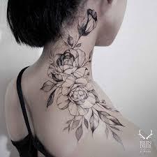 Rose Tattoo On Neck тату Neck Tattoos Women Tattoos и Flower