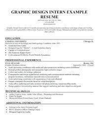 Graphic Design Resume Example Graphic Design Intern Responsibilities ...