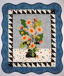 "Vase of Flowers"" Quilt Wallhanging – Art by Anna & ""Vase of Flowers"" Quilt Wallhanging – Art by Anna Adamdwight.com"