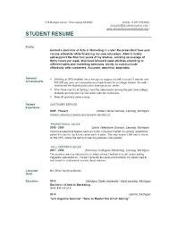 Sample Of Resume For Students In College College Resume Template