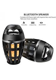 flame light bluetooth speaker wireless stereo sound outdoor speakers flame atmosphere lamp led flickers outdoor camping woofer