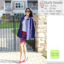 lookbook old navy plaid pea coat stripes