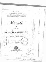 Luis Rodolfo Arguello Manual de Derecho Romano