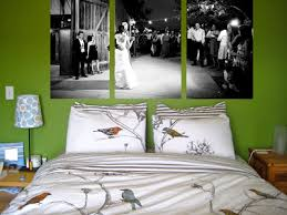 because of the bedroom photo s size the canvas ideas are cut off on top in real life i would want them taller on the wall i originally got this idea  on bedroom wall canvas ideas with green bicycle bedroom wall canvas art