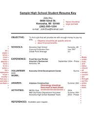 Resume For High School Student With No Work Experience Custom Resume For A Highschool Student With No Experience Resume Examples