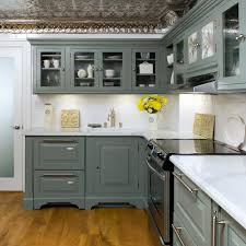 Grey Cabinets Kitchen Painted Combinate Gray Kitchen Cabinets With Black Appliances Modern Grey