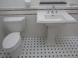 Interesting White Floor Tiles Bathroom Black And Tile Creative Decoration Intended Concept Design