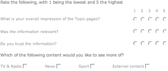 people places subjects bbc topic and guardian keyword pages  bbc topic survey