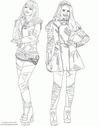 Descendants 2 Coloring Pages Jabn Descendants 2 Printable Coloring
