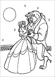 Disney Beauty And The Beast Coloring Pages W7610 Beauty And The