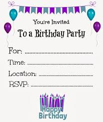 free template for birthday invitation