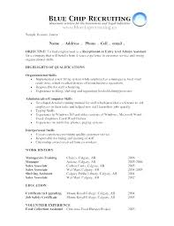 Example Of A Objective For A Resumes Good Job Objectives For A Resume Radtourism Co