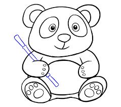 how to draw a cute cartoon panda in a few easy steps