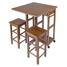 Space Saving Coffee Table Amazoncom Winsome Space Saver With 2 Stools Square Kitchen