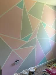Wall Patterns With Tape My Pastel Frog Tape Wall Valspar Girlsroom Einrichten Und