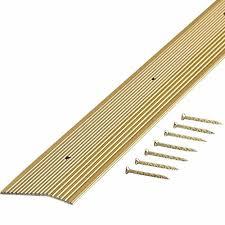 carpet joiner strip. satin brass fluted 36 in. x 2 carpet trim joiner strip