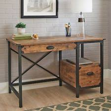 Industrial home office desk Build In Computer Desk Weathered Wood Office Writing Industrial Rustic Storage Drawer Ebay Industrial Desk Ebay