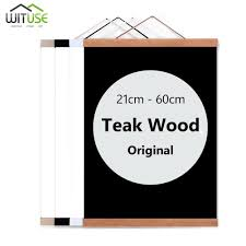 2018 wooden poster hanger photo frame white black diy picture canvas print hanging wall art home decor 21 60cm a4 a3 custom size new from waxer