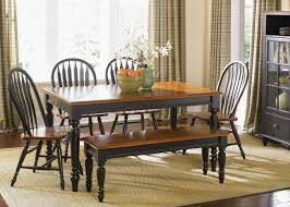 Country Dining Tables Bench For Dining Room Table Black Dining Table Set With Bench