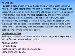 About Me In Resume Unique CV Writing Presentation 28