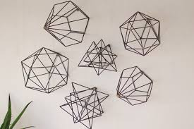 33 sweet geometric wall decor metal wire art set of 6 woodwaves diy shapes mirrored wood square on wire wall decor diy with 33 sweet geometric wall decor metal wire art set of 6 woodwaves diy