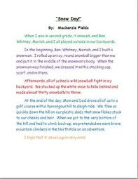original jpg personal narrative example snow day sample personal narrative teacher modeling tool by
