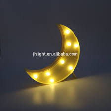 Decorative Led Moon Marquee Sign Lamp Night Light For Home Bedroom