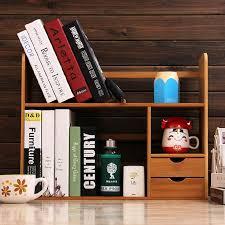 bamboo desktop bookshelves office desk storage small shelves easy shelf solid wood children bookshelf creative storage