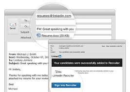 email sending resumes adding resumes to recruiter now as easy as sending an email