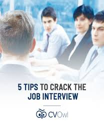 5 Tips To Crack The Job Interview | Cv Owl | World's Best And Free ...