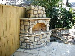 build your own brick outdoor fireplace plans add warmth ambience room home and gardening