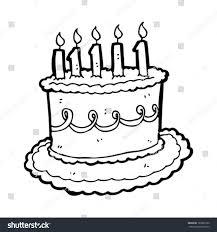 Cartoon Cake Drawing And Cake Cartoon Drawing Cartoon Birthday Cake