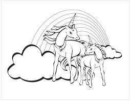 Due Unicorni Tra Le Nuvole Immagine Da Stampare E Da