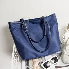 navy blue nylon bag tote leather handbag big longchamp style large huge women hand bag office las casual woman tote bag work spacious women s fashion