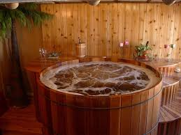 round cedar hot tub round designs about ideal home style