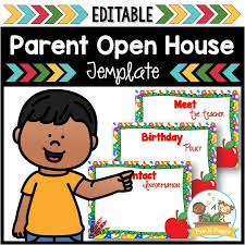 Open House Powerpoint School Theme Open House Powerpoint Pre K Pages