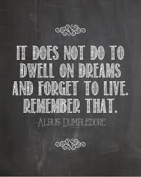 Harry Potter Dreams Quote Best of Harry Potter Dumbledore Movie Quotes QuotesGram Harry Potter