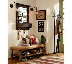 Rubbed Bronze Coat Rack Trendy Entry Wall Mirror with Hooks Including Oil Rubbed Bronze 79