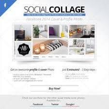 social collage cover profile facebook 2018
