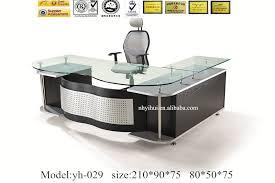 office desks glass modern furniture design glass desk yh029 buy deskmodern with metal frame for boss contemporary f40 contemporary