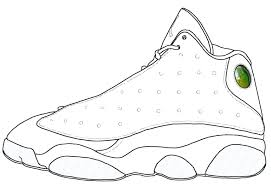 Jordan Shoes Coloring Pages At Getdrawingscom Free For Personal