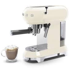 Máy Pha Cà Phê Espresso Smeg ECF01CREU Cream, Thermoblock, 15 Bar