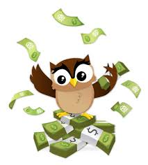 Image result for owl  with money clipart