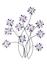 inspire me metal flower wall purple decor most wanted  on metal flower wall art purple with purple combination floral metal wall art interior design green